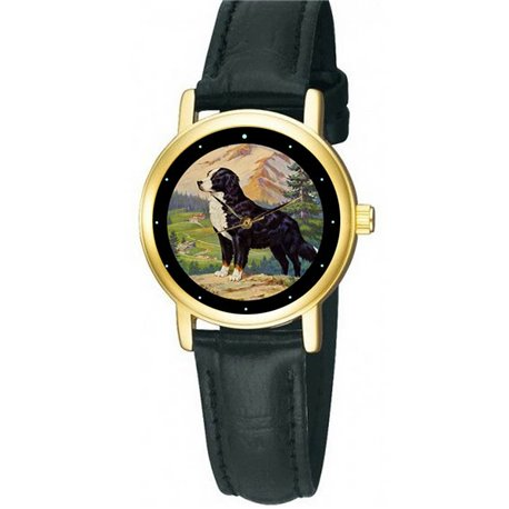 Bernese Mountain Dog. Classic Elegant Dog Lover's Collectible Wrist Watch