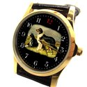 Collie Collies Classic Elegant Dog Lover's Collectible Wrist Watch. Black background
