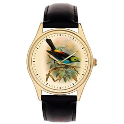 Stunning Ornithology Wrist Watch, Calliste Paradisa, Ornithologist Bird Watcher