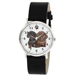 Dachshund Puppies Ultra Cute Dog Art Wrist Watch For All Ages