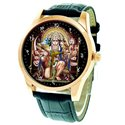 Colorful HANUMAN Maruti Hinduism Kitsch Religious Art Wrist Watch