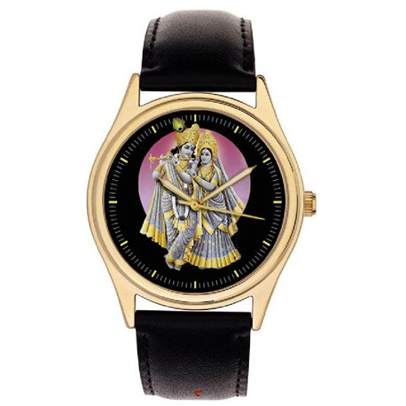Radha Krishna Divine Leela Classic Hinduism Religious Art Wrist Watch