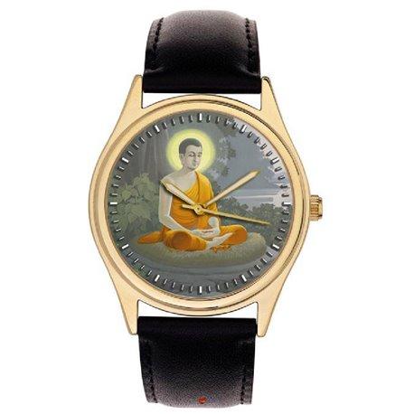 Young Buddha Meditating. Rare Artwork. Classical Buddism Wrist Watch