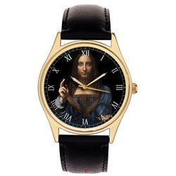 Salvator Mundi, Jesus Christ, Saviour of the World (Leonardo da Vinci) Collectible 40 mm Wrist Watch