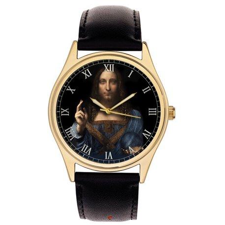 Salvator Mundi, Jesus Christ, Saviour of the World (Leonardo da Vinci) Collectible 40 mm Wrist Watch