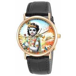 Bal Sri Krishna - Krsna the Divine Child Hinduism Religious Art Wrist Watch