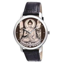 The Buddha Meditating. Nirvana. Classical Buddism Wrist Watch