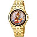 Gold Jhulelal Sindhu Sindhi Religious Art Wrist Watch