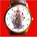 Santoshi Mata Vaishno Devi Hinduism Religious Art Wrist Watch