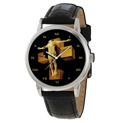 Salvador Dali Surreal Art Crucifixion of Christ Collectible Wrist Watch