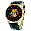 The Dancing Lord Ganesha Contemporary Classic MF Hussein Art Solid Brass Wrist Watch