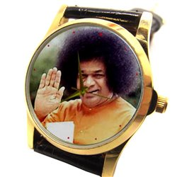 Sathya Sai Baba, Beautiful Tribute Hinduism Devotional Wrist Watch Unisex Size
