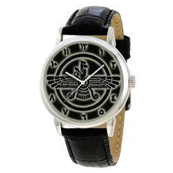 Faravahar Classic Zoroaster Zarathushtra Persian Parsi Symbolic Religious Art Wrist Watch