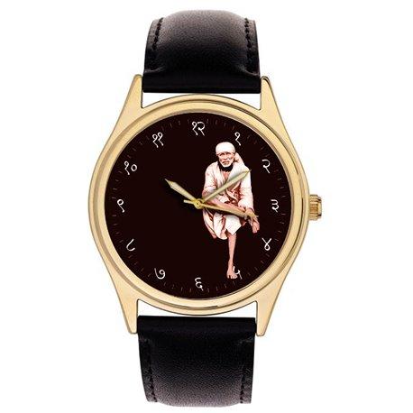 Shri Sai Baba of Shirdi, His Original photo Art Collectible Wrist Watch