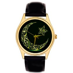 Ramadan Kareem Arabic Islamic Koranic Calligraphy Collectible Wrist Watch