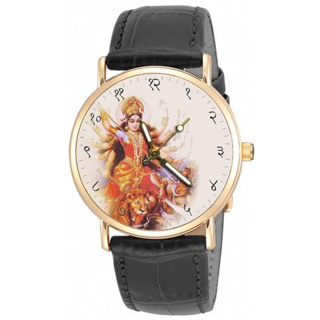 Maa Durga Hinduism Religious Art Wrist Watch