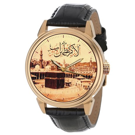 The Holy Kaaba, Mecca, Vintage 1905 Islamic Calligraphy Art Beautiful Koranic Collectible Wrist Watch