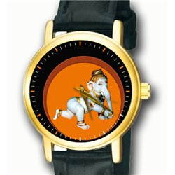 Beautiful Bal Ganesha Hinduism Religious Art Wrist Watch