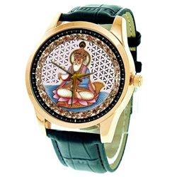 Gents Jhulelal Sindhu Sindhi Religious Art Wrist Watch