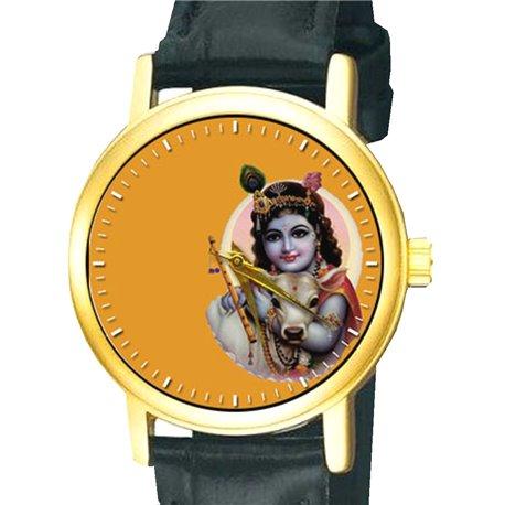 Bal Krishna Stunning Raja Rava Varma Hinduism Devotional Hindu Krsna Wrist Watch