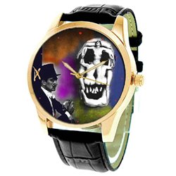 Erotic Skull Art Salvador Dali Collectible Surrealist Art Wrist Watch