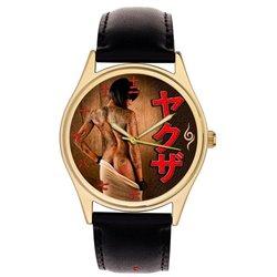 Yakuza Japanese Gangster Cult Tattoo Art Erotic Wrist Watch. 日本のヤクザヤクザカルトタトゥーアートエロ腕時計。
