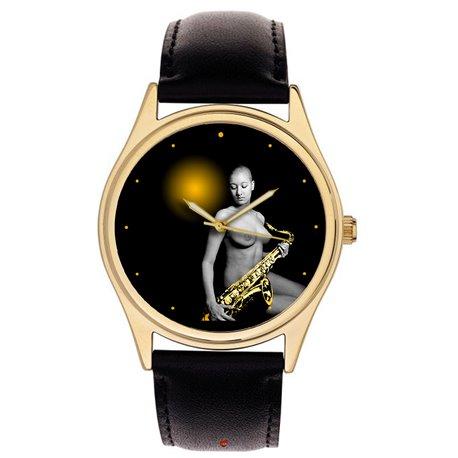 erotic saxophone art watch