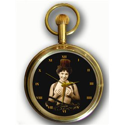 MIMI - 1920s FRENCH POSTCARD ART Collectible Swiss Pocket Watch