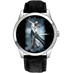 Erotic Violin Player Art Collectible 40 mm Wrist Watch