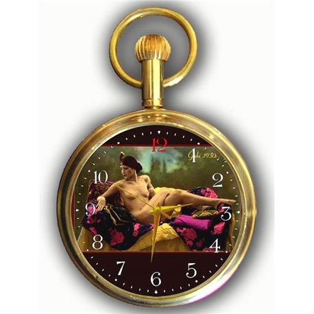 Erotic 1900s Art Swiss Pocket Watch - Mature Cougar Gaby