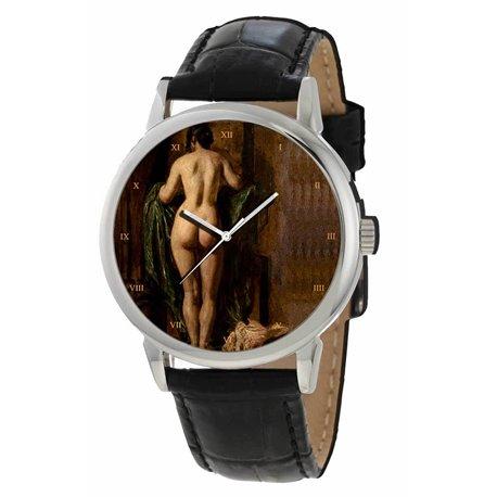 Butt Study Classical Edwardian Nude Erotic Art Gents Wrist Watch