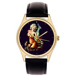 Marilyn Monroe Original Erotic Comic Art Wrist Watch