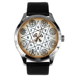 Ancient Illuminati Esotericism Art Symbolic Freemasonry / Masonic Wrist Watch