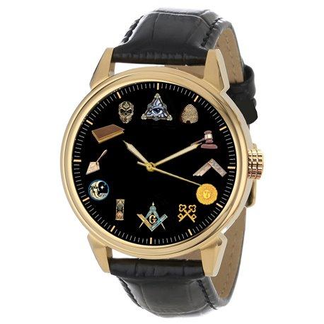 Masonic Symbols Wrist Watch