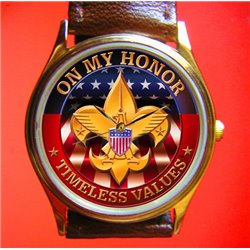 BOY SCOUTS OF AMERICA - Classic Logo Art Boys Wrist Watch