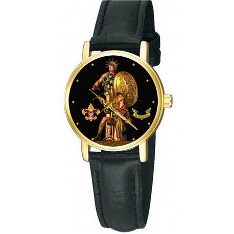 "BOY SCOUTS - Classic Vintage Art ""Uncle Sam"" Collectible Boys' Wrist Watch"