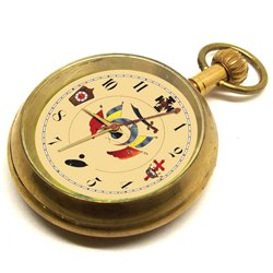 Vintage Symbolic Masonic Swiss 17 Jewels Pocket Watch. Elgin Style