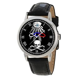 The Odd Fellows Oddfellows Classic Symbolic Skull Art Gents Wrist Watch