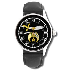 Shriner's Sword Collectible Freemasonry Gents Large Format Watch. Masonic Emblem. 32nd Degree.