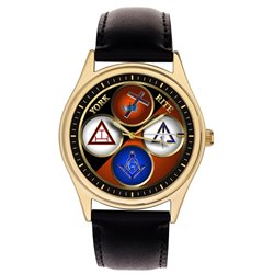 Symbolic York Rite Freemasonry / Masonic Collectible 40 mm Wrist Watch