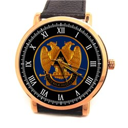 32nd Degree. Scottish Rite Freemasonry Symbolism Masonic Collectible Wrist Watch