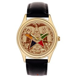 Order of the Eastern Star. Symbolic Freemasonry / Masonic Geometry Art Collectible Wrist Watch