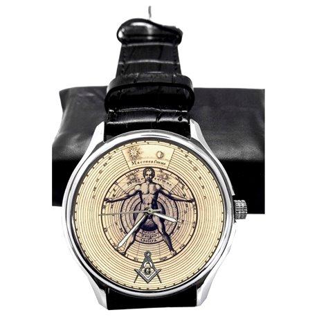 Symbolic Vintage Freemasonry Art Collectible Wrist Watch
