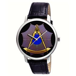 The Masonic Divider & Compass. Symbolic Vintage Freemasonry Art Collectible Wrist Watch