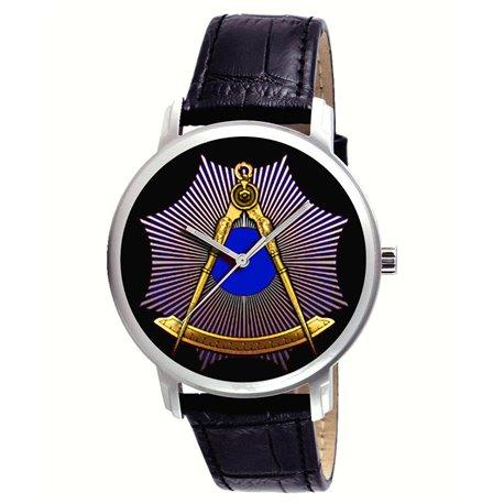 The Masonic Divider & Compass. Symbolic Vintage Freemasonry Art Collectible Wrist Watch