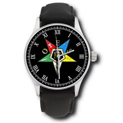 Emblem of the Order of the Eastern Star. Symbolic Freemasonry / Masonic Wrist Watch