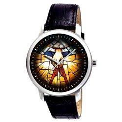 Masonic Stained Glass Art Symbolic Vintage Freemasonry Art Collectible Wrist Watch