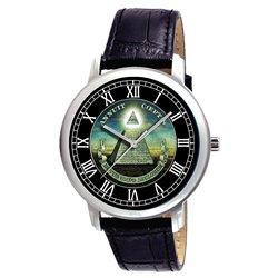 The Masonic Temple. Symbolic Teal Green Vintage Freemasonry Art Collectible Wrist Watch