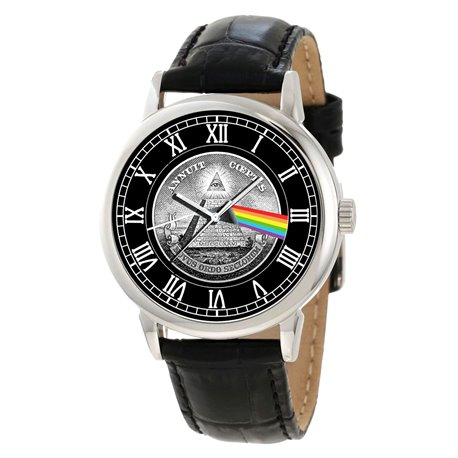 Pink Floyd v/s The Freemason. Dark Side of the Moon Masonic Temple Art Collectible Wrist Watch