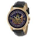 The Masonic Brotherhood, USA Flag Symbolic Freemasonry Solid Brass Wrist Watch